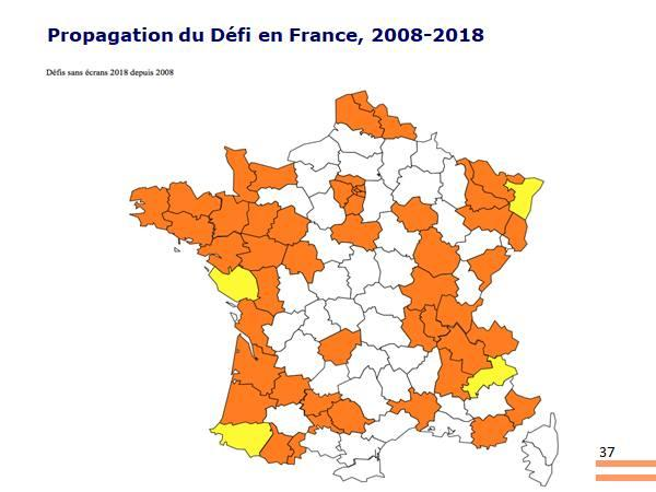 Carte propagation du defi France